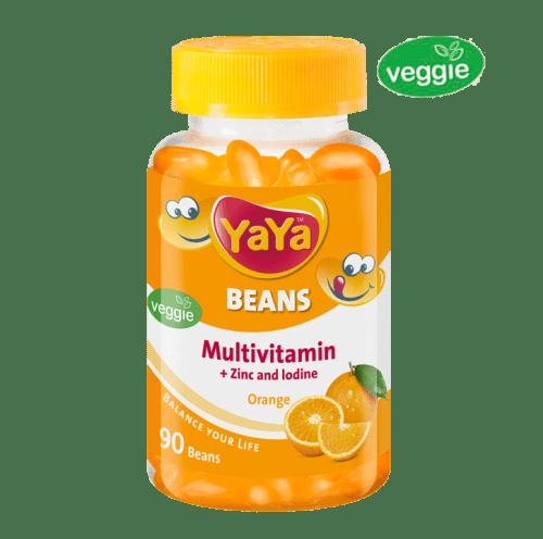 YaYa Beans Multivitamin + Zinc & Iodine (Orange)