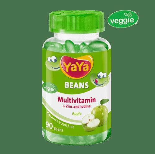 YaYa Beans Multivitamin + Zinc & Iodine (Apple)